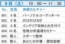 8日(土)10:00~